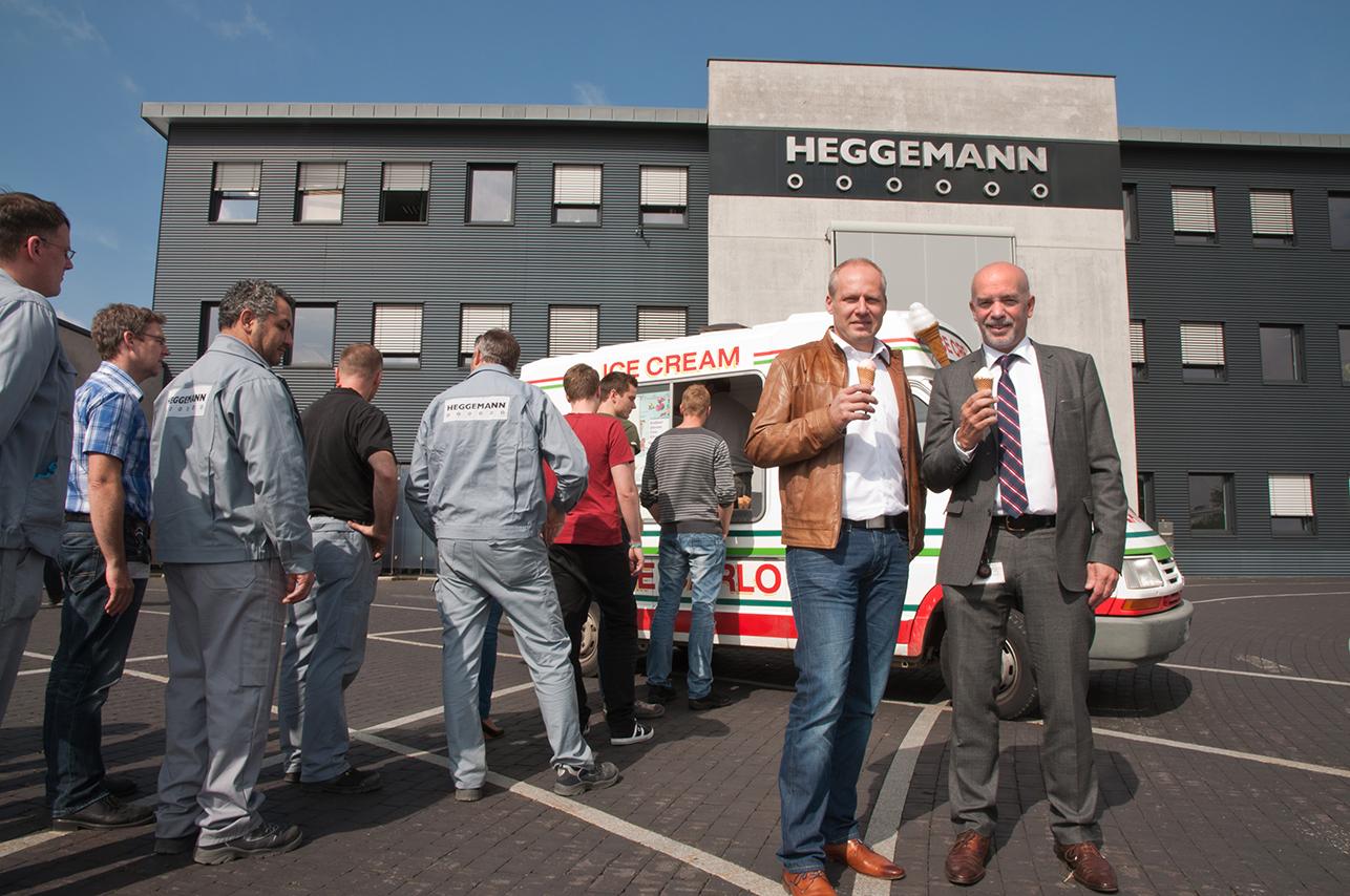 Eiswagen bei Heggemann