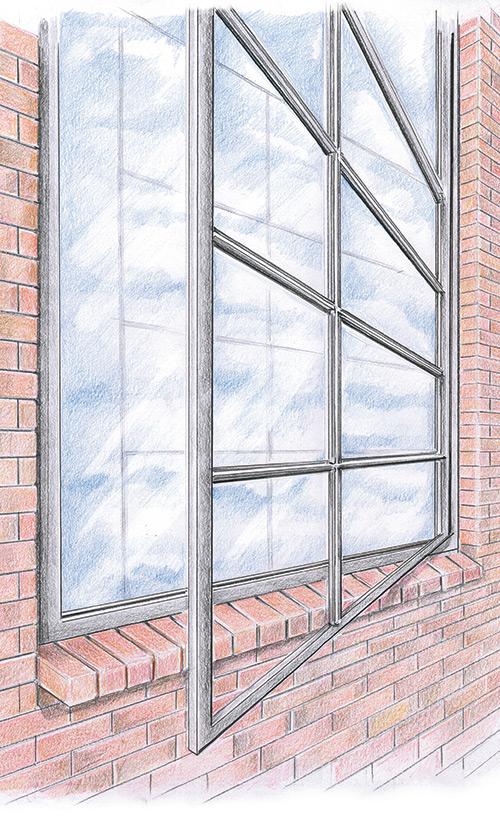 gezeichnetes Sprossenfenster - ein Produkt von ms Sprossenelemente GmbH