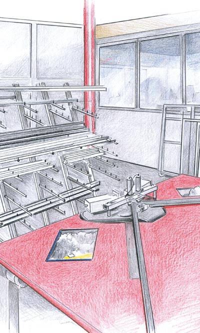 Zeichnung Profilsysteme - Produktion