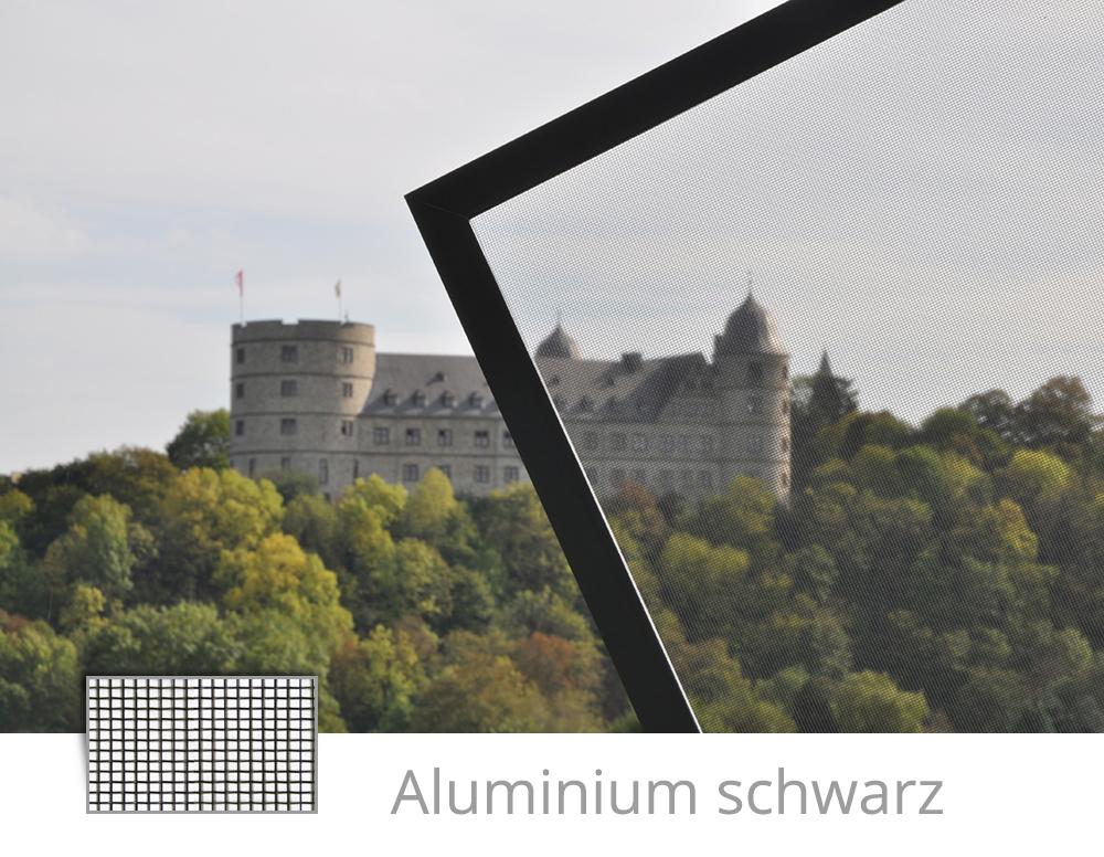 Fliegengitter Aluminium schwarz