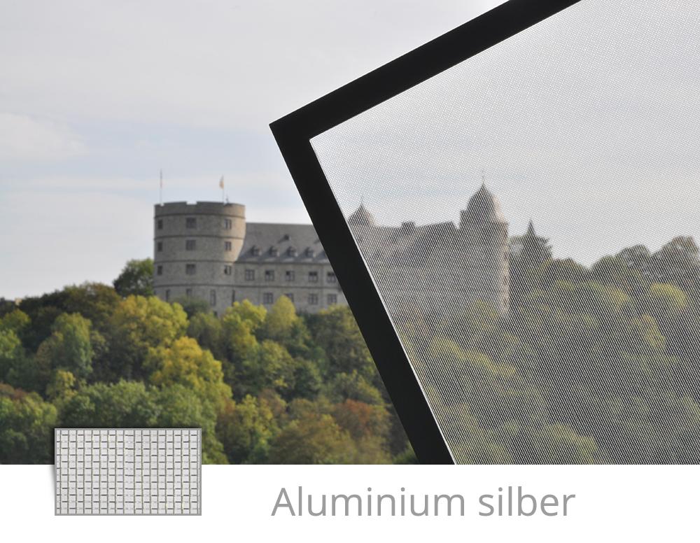 Fliegengitter Aluminium silber