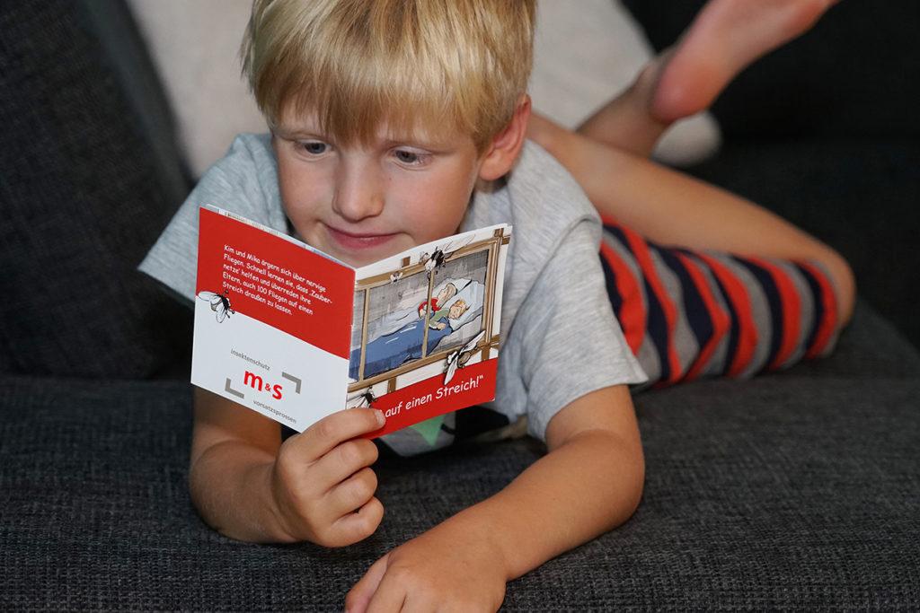 Kinderbuch von m&s Insektenschutz und Sprossenelemente