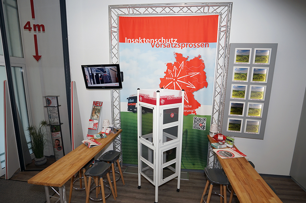 m&s Insektenschutzsysteme und Vorsatzsprossen Ausstellung Bueren Kreis Paderborn