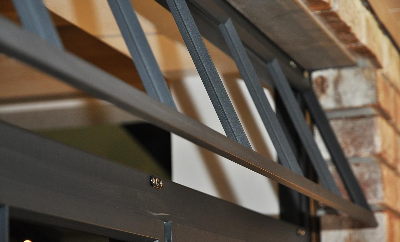 Vorsatzsprossen - Sprossenelemente in Stahloptik