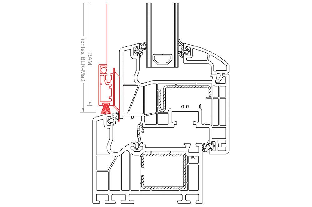m&s Fiberglas-Gewebe Fliegengitter grau mit grauem Rahmen