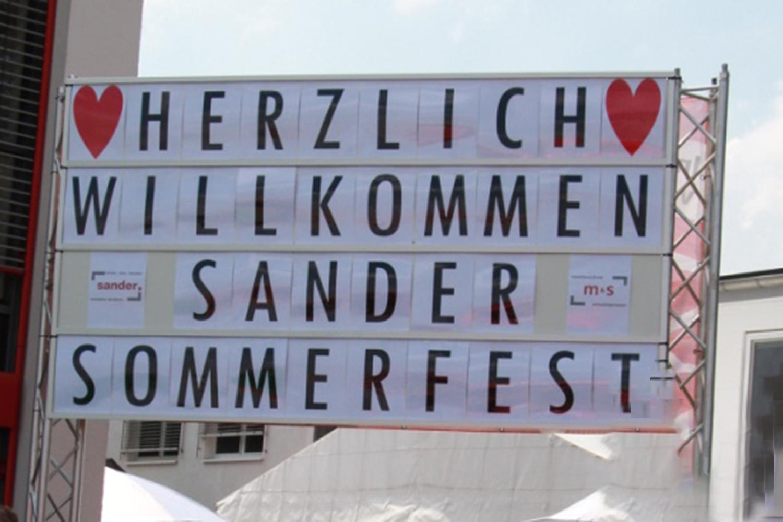 Viel Vergnügen beim Sander und m&s Sommerfest 2018