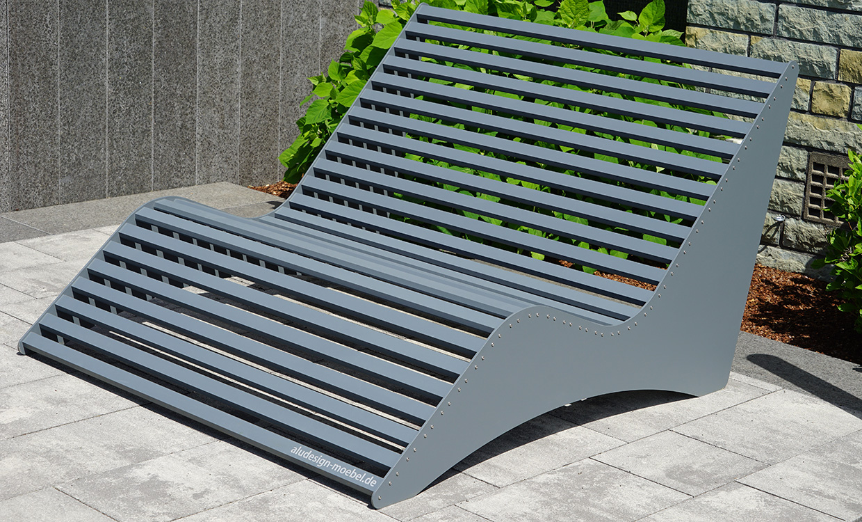 Doppel-Relaxliege aus Aluminium von m&s