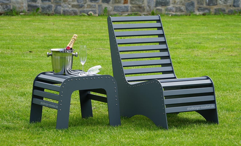 Chillmöbel aus Aluminium von m&s