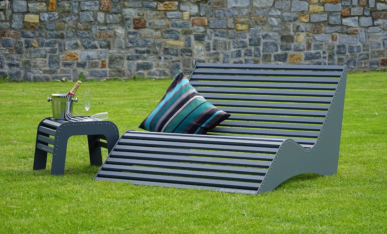 Relaxbank aus Aluminium von m&s