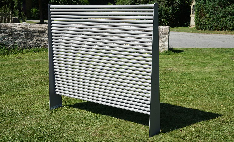 Sichtschutz-Trennwand aus Aluminium von m&s