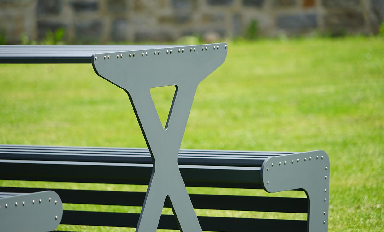 Picknicktisch aus Aluminium von m&s
