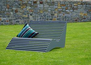 Relax-Liege aus Aluminium