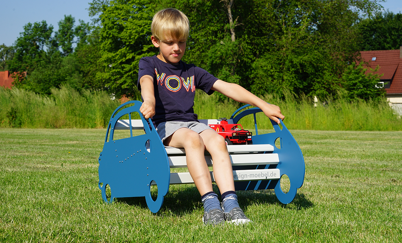 ms alu-design moebel Autobank für Kinde Gartenmoebel aus ALU