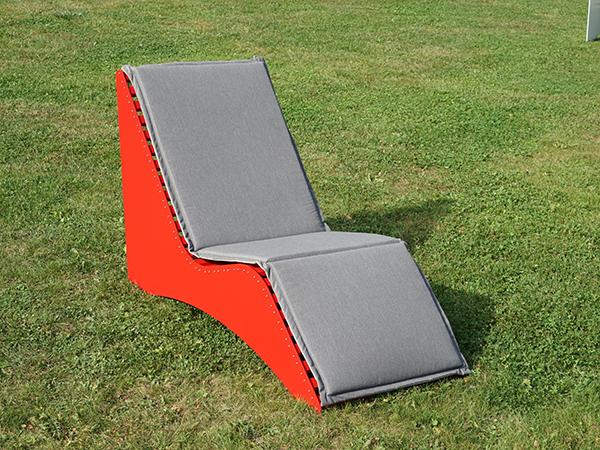 Relaxbank mit Sitzauflage