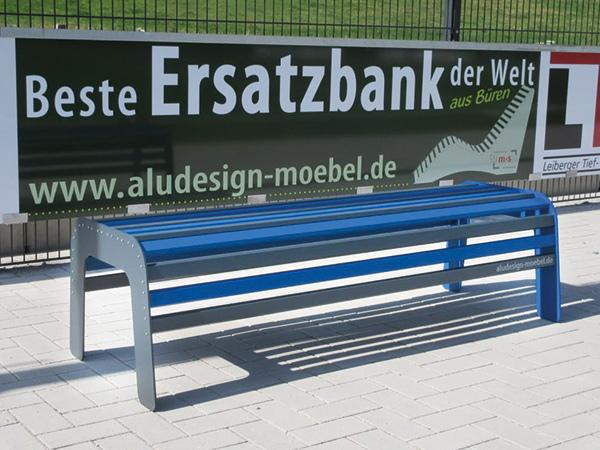 zweifarbige Ersatzbank für Vereine aus Aluminium