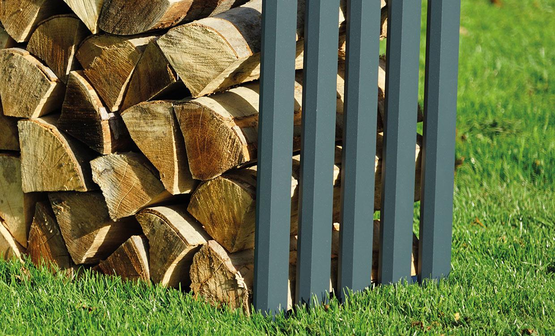 Aludesign Holzlager 100 #1 - Aluminiumgestell für Holzscheite