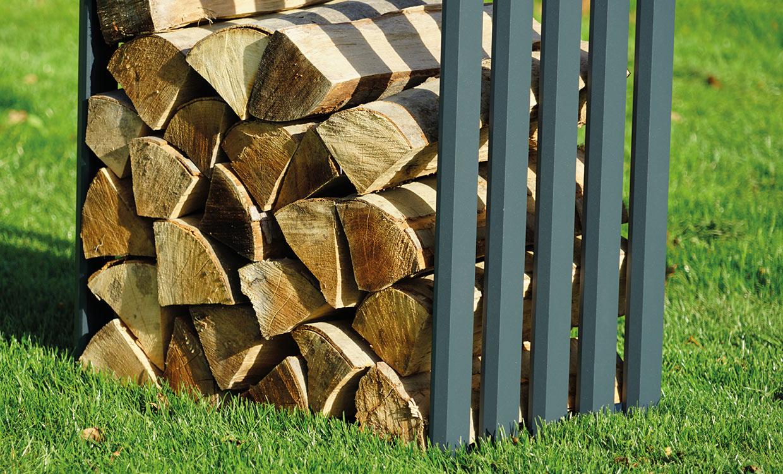 Aludesign Holzlager 50 #1 - Aluminiumgestell für Holzscheite