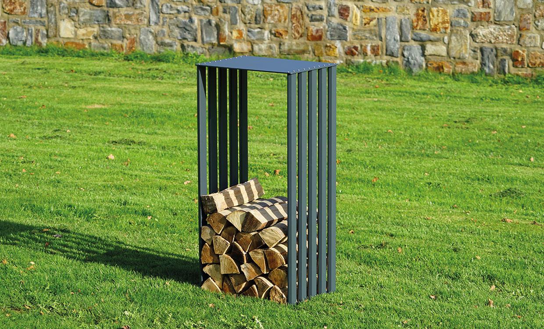 Aludesign Holzlager 50 #2 - Aluminiumgestell für Holzscheite