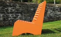 Loungbank aus Aluminium für den Außeneinsatz - von Aludesign Möbel seitliche Ansicht