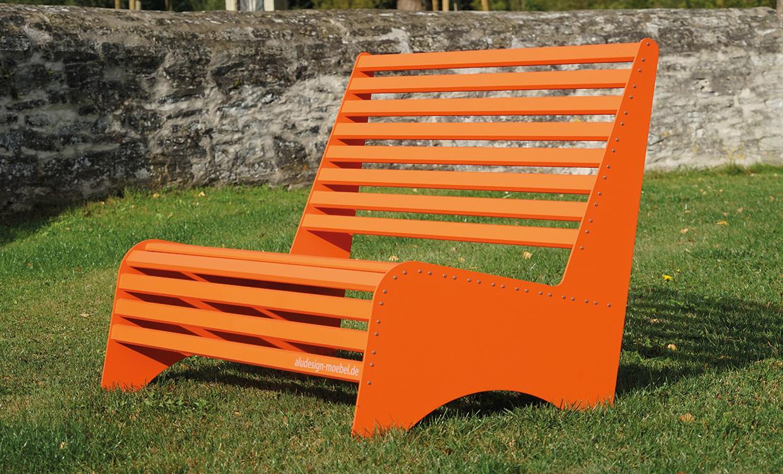 Loungbank aus Aluminium für den Außeneinsatz - von Aludesign Möbel