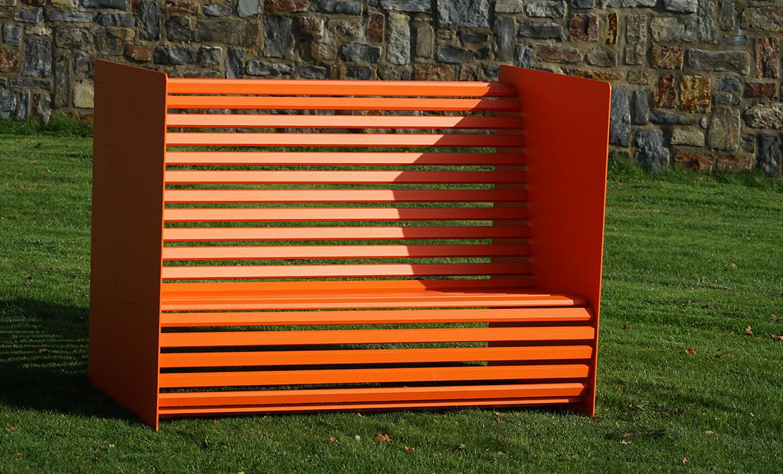 ms alu-design moebel Sitzbank Silence aus Alu