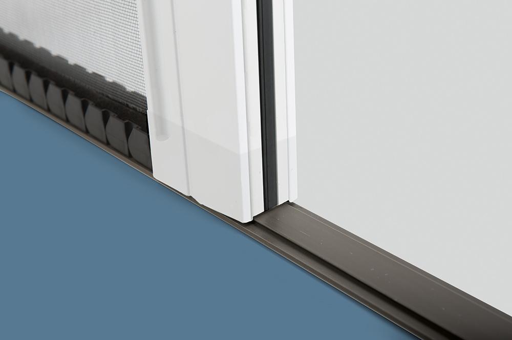Insektenschutz Plissee Rollo - Führung 5 mm dünn Aluminium silber eloxiert