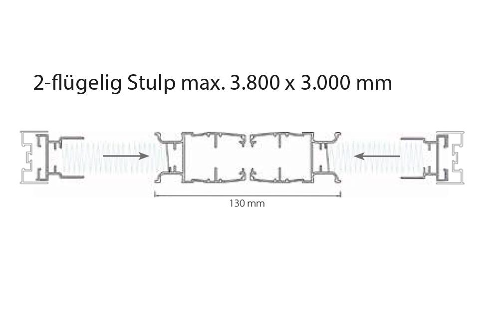 m&s Plissee 45 - 2-flügelig Stulp max. 3.800 x 3.000 mm