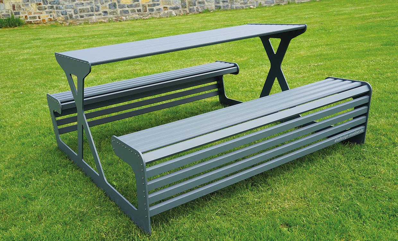 Picknickbank aus Aluminium